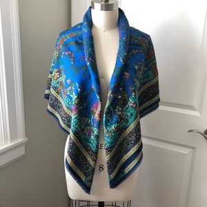 Art of the Scarf Tie Rack - Italy Blue Print